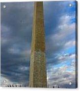 Stormy Washington Monument Acrylic Print