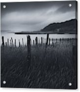 Stormy weather over an Estuary in Brittany, France Acrylic Print