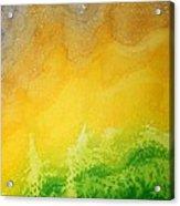 Stormy Mesa Original Painting Acrylic Print