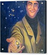 Storyteller Of Stars - Artwork For The Science Tarot Acrylic Print by Janelle Schneider