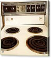Stove Top Acrylic Print by Les Cunliffe