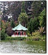 Stow Lake Chinese Pavilion Acrylic Print