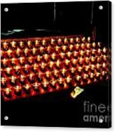 St.patricks Cathedral Candles Acrylic Print