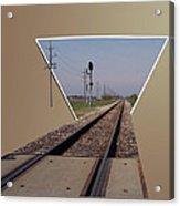 Straight As A Rail Acrylic Print