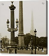 Straight Lines In Paris Acrylic Print