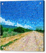 Straight Road In Ethiopia Painting Acrylic Print