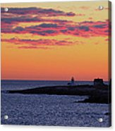 Straitsmouth Lighthouse Sunrise Acrylic Print
