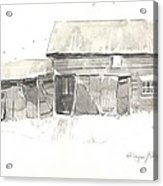 Strang's Barn Acrylic Print