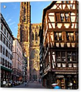 Strasbourg Cathedral Acrylic Print