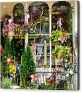 Strasburg Flower Shop Acrylic Print