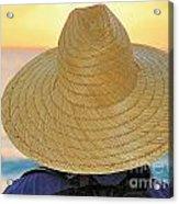 Straw Hat Acrylic Print