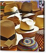 Straw Hats Acrylic Print