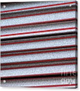 Straw Red Acrylic Print