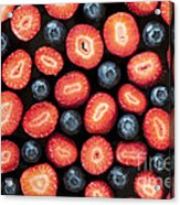 Strawberries And Blueberries Acrylic Print