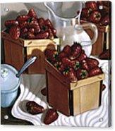 Strawberries And Cream 1997 Acrylic Print