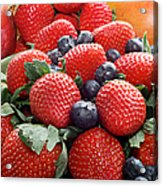 Strawberries Blueberries Mangoes - Fruit - Heart Health Acrylic Print
