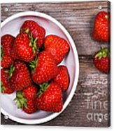 Strawberries Acrylic Print by Jane Rix