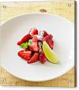 Strawberries With Lime And Mint Acrylic Print