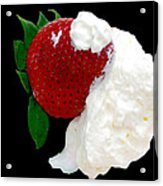 Strawberry And Cream Acrylic Print by Camille Lopez