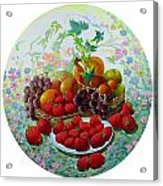 Strawberry And Grapes Acrylic Print