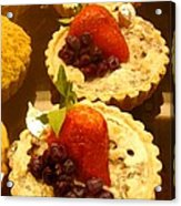 Strawberry Blueberry Tarts Acrylic Print