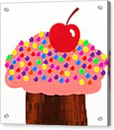 Strawberry Cupcake Acrylic Print by Andee Design