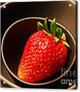 Strawberry In Nested Bowls Acrylic Print