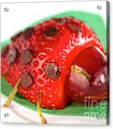 Strawberry Ladybug Acrylic Print