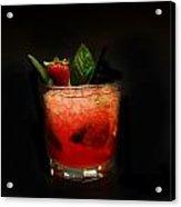 Strawberry Mojito Acrylic Print