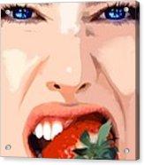 Strawberry - Pretty Faces Series Acrylic Print