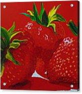 Strawberry Red Acrylic Print