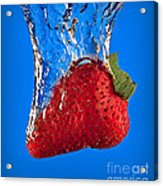 Strawberry Slam Dunk Acrylic Print by Susan Candelario