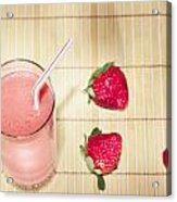 Strawberry Smoothie Acrylic Print