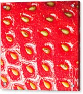 Strawberry Texture Acrylic Print