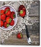 Strawberry Vintage Acrylic Print