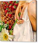Strawberry Woman Acrylic Print