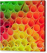 Straws In Color Acrylic Print