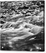 Stream Fall Colors Great Smoky Mountains Painted Bw  Acrylic Print