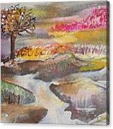 Stream In Early Winter Acrylic Print