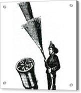 Stream Spreading Water Nozzle, 1865 Acrylic Print