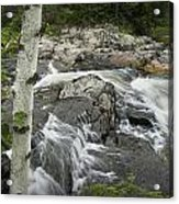 Stream With Waterfall In Vermont Acrylic Print