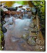 Streaming Green Acrylic Print