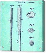 Streamlined Baseball Bat Or The Like Blue Us 2169774 A Acrylic Print