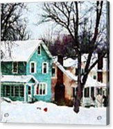 Street After Snow Acrylic Print