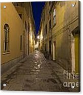 Street Alley By Night Acrylic Print
