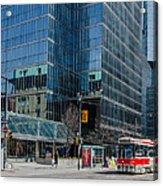 Street Car In Toronto Acrylic Print
