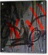 Street Conversation Acrylic Print