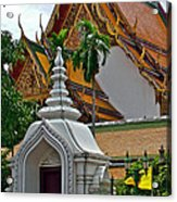 Street Entry To Wat Po In Bangkok-thailand Acrylic Print