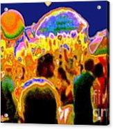 Street Festival At Night Acrylic Print