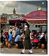 Street Food On The Golden Horn, Istanbul Acrylic Print